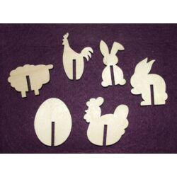 Pohárjelölő húsvéti figurákkal 6 db/csomag