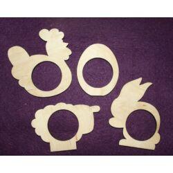 Szalvéta gyűrű húsvéti figurákkal 4 db/csomag