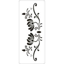 3D stencil 80x195x1 mm ST1015 virág