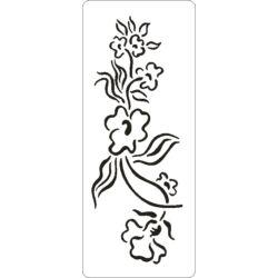 3D stencil 80x195x1 mm ST1021 virágcsokor