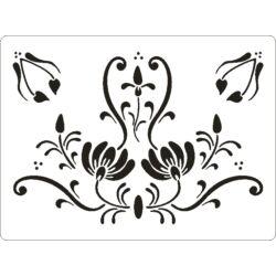 3D stencil 145x195x1 mm ST2007 virágok