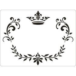 3D stencil 145x195x1 mm ST2018 korona