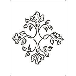 3D stencil 145x195x1 mm ST2019 virág
