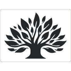 3D stencil 145x195x1 mm ST2062 Nagy levelű fa