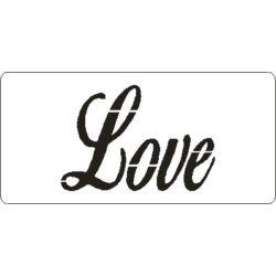 3D stencil 50x105x1 mm ST4102 Love