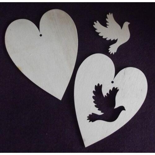 Szív figurás kivágással több változatban, több méretben