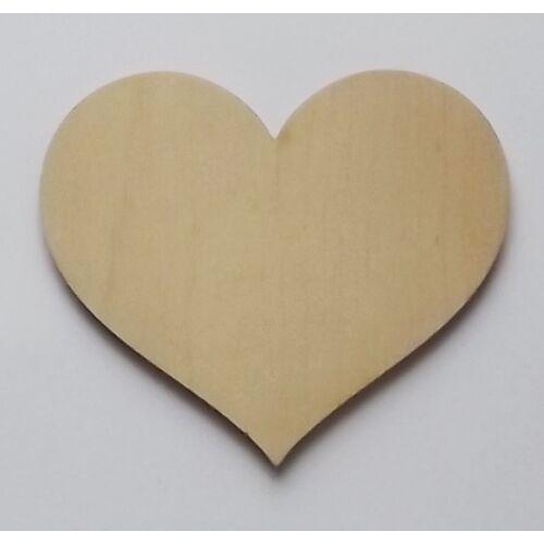 Szív - pufi szív finom ívekkel több méretben
