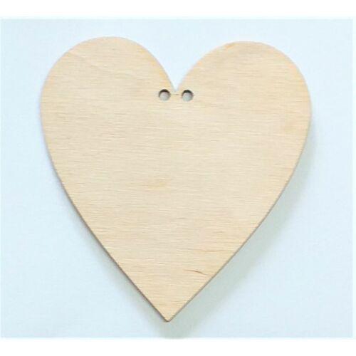 Szív 2 lyukkal több méretben