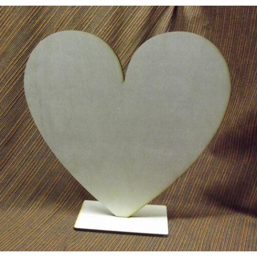 Álló szív teli több méret 6 mm
