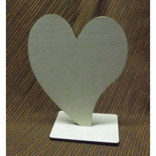 Álló szív -francia szív több méret 6 mm