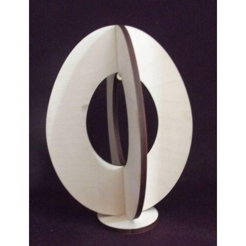 Álló tojás 3D középen kivágással több méretben
