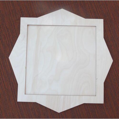Képkeret nyolcszög mintával